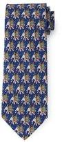 Salvatore Ferragamo Elephant-Print Silk Tie, Navy