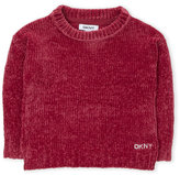DKNY Toddler Girls) Textured Knit Velour Sweater