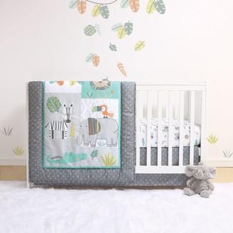 Belle 4 Piece Safari Crib Bedding Set