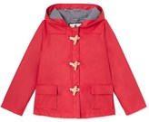 Petit Bateau Girls duffle-coat style hooded rain jacket