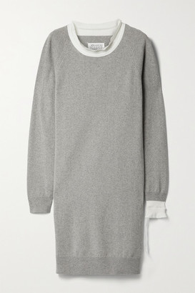Maison Margiela Cotton-blend Mini Dress - Gray