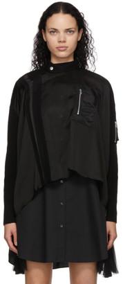 Sacai Black Asymmetrical Blouse