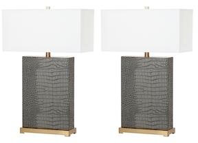 Safavieh Joyce Faux Alligator Table Lamps (Set of 2)