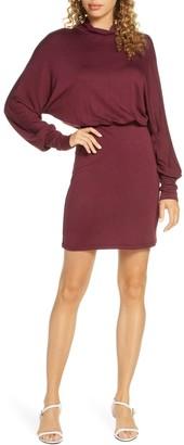 Fraiche by J Turtleneck Blouson Dress