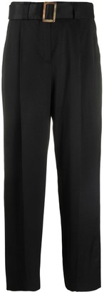 Pt01 Belted Straight-Leg Trousers