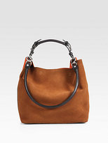 Marni Bicolor Suede Shoulder Bag