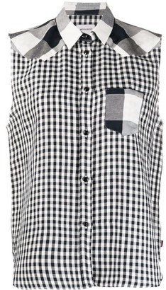 Woolrich Panelled Checked Shirt