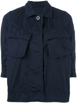 Women&39s Blue Military Jacket - ShopStyle