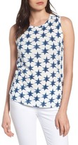 Lucky Brand Women's Back Tie Star Print Tank