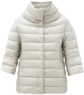 Herno Aminta Funnel-neck Quilted Down Jacket - Silver
