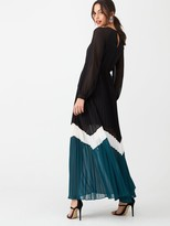 Very Colour Block Pleated Maxi Dress - Multi