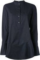 Jil Sander Navy flared hem shirt - women - Cotton/Spandex/Elastane - 36