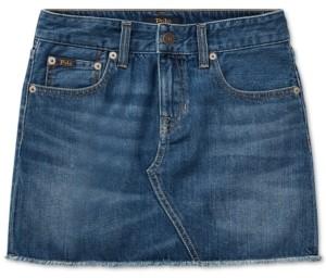 Polo Ralph Lauren Little Girls Denim Cotton Skirt
