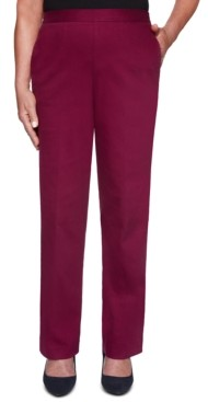 Alfred Dunner Autumn Harvest Pull-On Flat Front Jeans