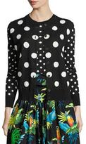 Marc Jacobs Polka-Dot Crewneck Sweater, Black/Multi