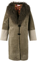 Saks Potts shearling collared coat