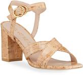 Stuart Weitzman Analeigh Easy Cork Ankle-Strap Sandals