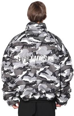 Juun.J Reversible Camo Puffer Jacket