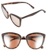 BP Junior Women's 55Mm Metal Rim Cat Eye Sunglasses - Black