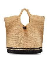 Vitamin A Tash Two-Tone Beach Tote Bag, Neutral/Black