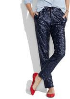 Sequin drawstring pants