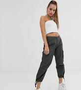 Asos DESIGN Petite cargo trousers in khaki