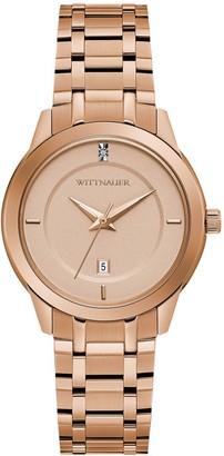 Wittnauer Women's Rosetone Diamond Accent Watch