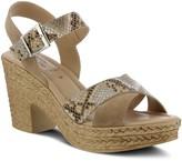Spring Step Adjustable Leather Heel Sandals - Luzbel