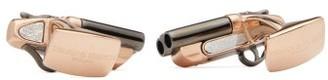 Deakin & Francis Shotgun Rose Gold-plated Cufflinks - Mens - Rose Gold