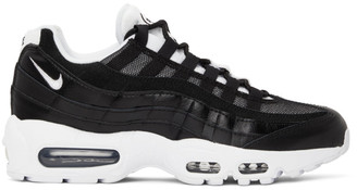 Nike Black and White Air Max 95 Sneakers