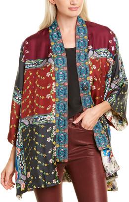 Johnny Was Paisley Silk Kimono