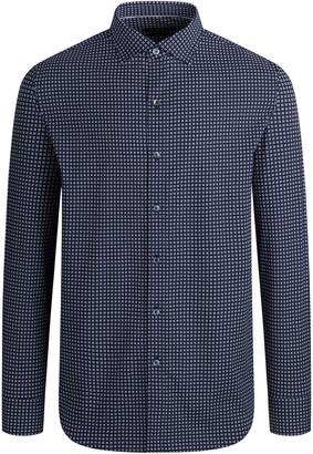 Bugatchi Men's Geometric-Print Cotton Button-Down Shirt