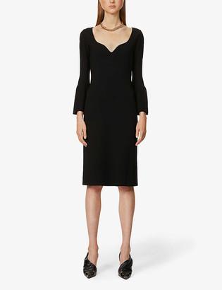 Stella McCartney Compact V-neck woven midi dress