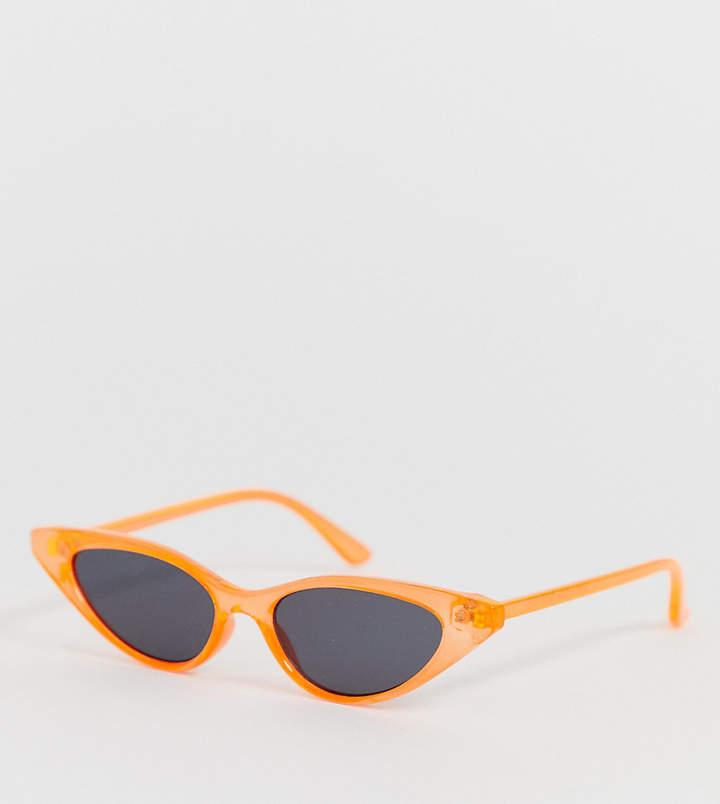 New Look cat eye sunglasses in neon orange