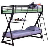 ACME Furniture Zazie Kids Bunk Bed with Shelf - Sandy Black(Twin/Twin) - Acme