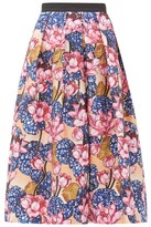 Mary Katrantzou Crystal Rose-print Crepe Midi Skirt - Womens - Pink Multi