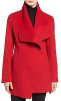 Laundry by Shelli Segal Women's Double Face Drape Collar Coat