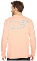 Vineyard Vines Long Sleeve Two-Tone Vintage Whale Pocket T-Shirt Men's T Shirt
