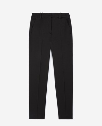 The Kooples Formal black trousers in textured fabric