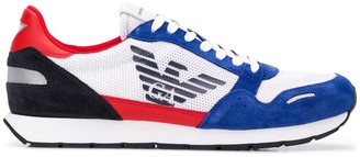 Emporio Armani colour block sneakers