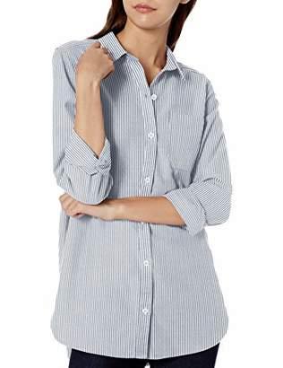 Goodthreads Washed Oxford Long-sleeve Boyfriend Shirt Button,Medium