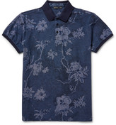 Etro - Slim-fit Floral Cotton-piqué Polo Shirt