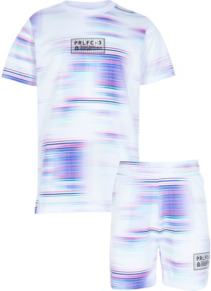 River Island Boys White Prolific Tie Dye Print Tshirt Set
