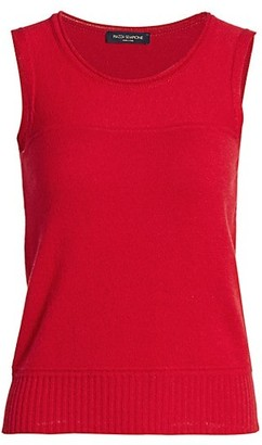 Piazza Sempione Cashmere Sleeveless Shell Top