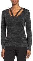 T Tahari Women's Ramona V-Neck Pullover