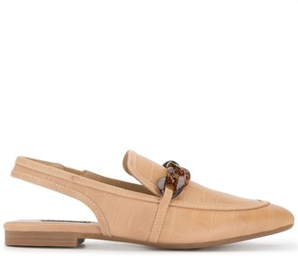 Senso Chain-Link Sling Back Loafers