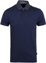 Boss Place 10 Navy Slim Fit Jersey Polo Shirt