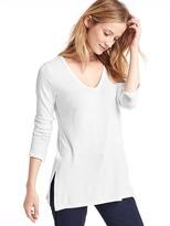 Gap Softspun knit slit tunic