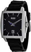 HUGO BOSS Modern Square 1513225 Men's Black Silicone and Stainless Steel Watch