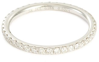 Diamond 18k white gold eternity ring